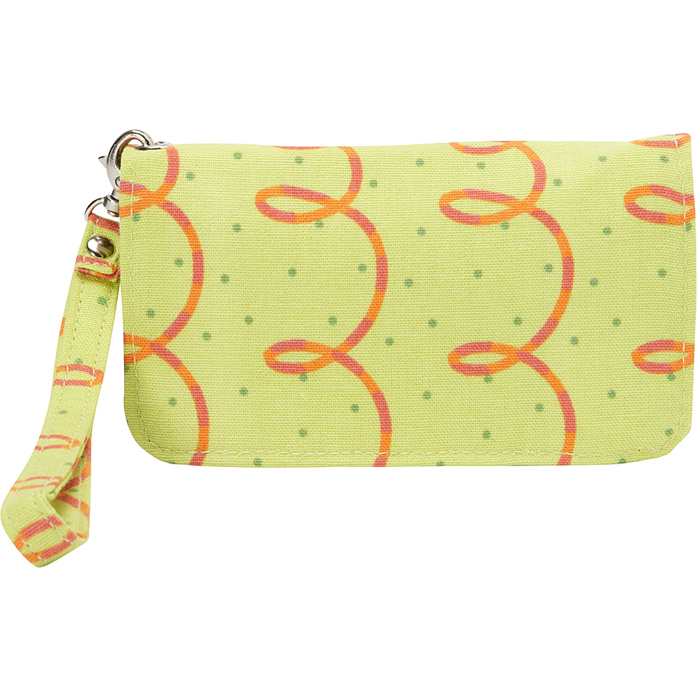 Donna Sharp Cell Phone Wristlet Posy Green Loops Donna Sharp Manmade Handbags