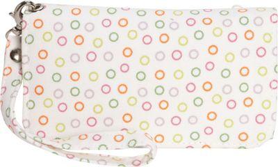 Donna Sharp Cell Phone Wristlet Posy White Dot - Donna Sharp Manmade Handbags