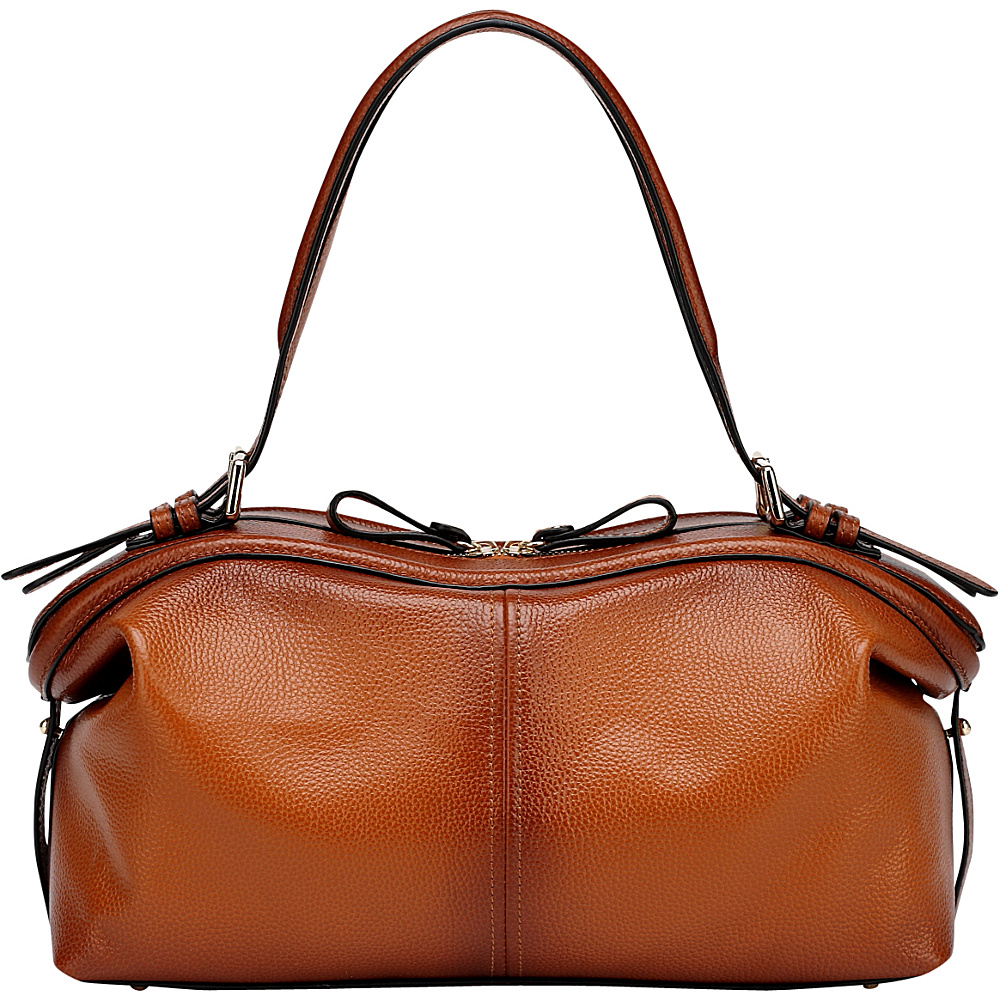 Vicenzo Leather Ellen Tote Leather Handbag Brown Vicenzo Leather Leather Handbags
