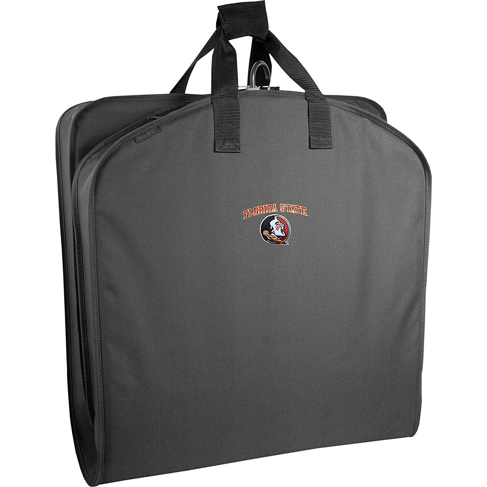 "Wally Bags Florida State Seminoles 40"" Suit Length Garment Bag with Handles Black - Wally Bags Garment Bags"