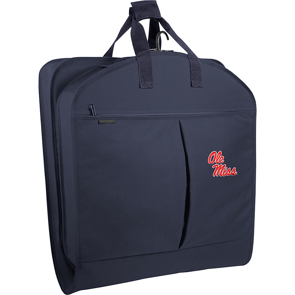 Wally Bags Ole Miss Rebels 40 Suit Length Garment Bag with Two Pockets Navy Wally Bags Garment Bags