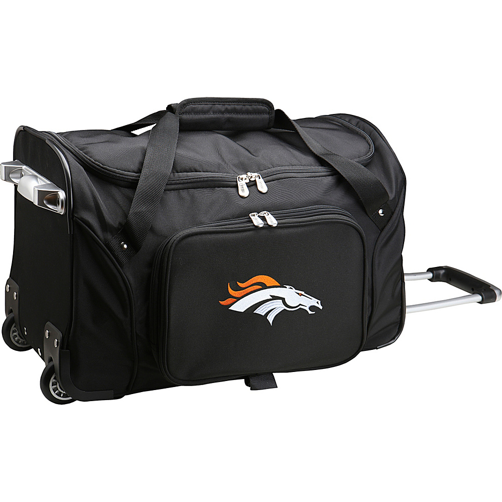 Denco Sports Luggage NFL 22  Rolling Duffel Denver Broncos - Denco Sports Luggage Rolling Duffels - Luggage, Rolling Duffels