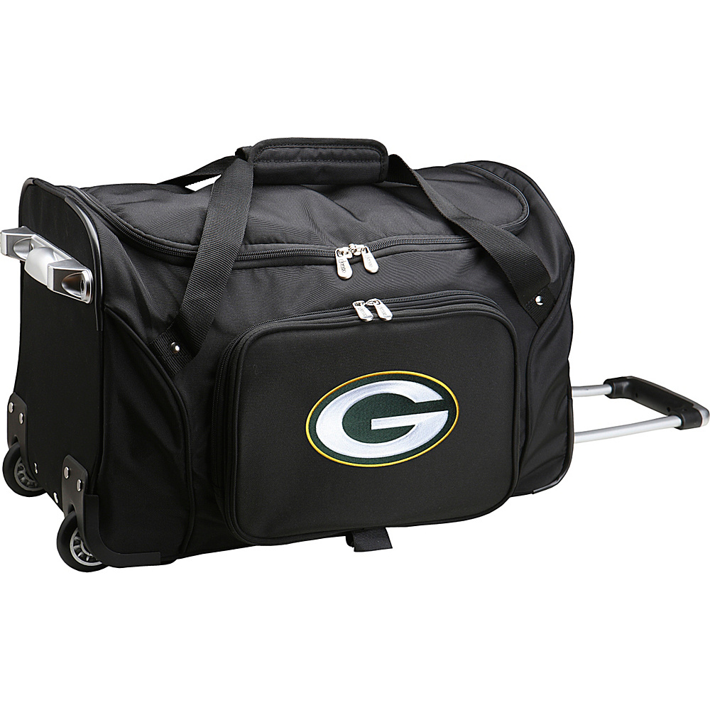 Denco Sports Luggage NFL 22  Rolling Duffel Green Bay Packers - Denco Sports Luggage Rolling Duffels - Luggage, Rolling Duffels