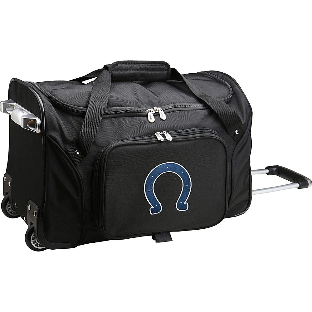 Denco Sports Luggage NFL 22  Rolling Duffel Indianapolis Colts - Denco Sports Luggage Rolling Duffels - Luggage, Rolling Duffels