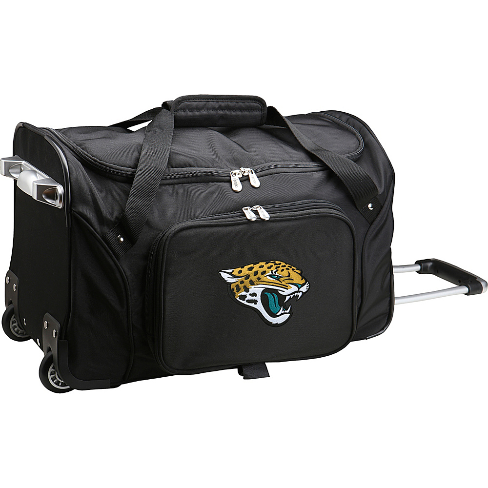 Denco Sports Luggage NFL 22  Rolling Duffel Jacksonville Jaguars - Denco Sports Luggage Rolling Duffels - Luggage, Rolling Duffels