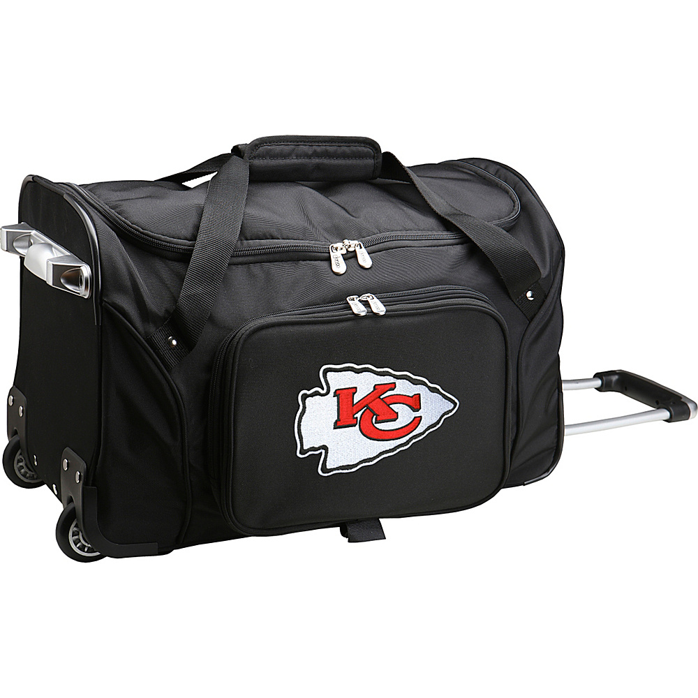Denco Sports Luggage NFL 22  Rolling Duffel Kansas City Chiefs - Denco Sports Luggage Rolling Duffels - Luggage, Rolling Duffels