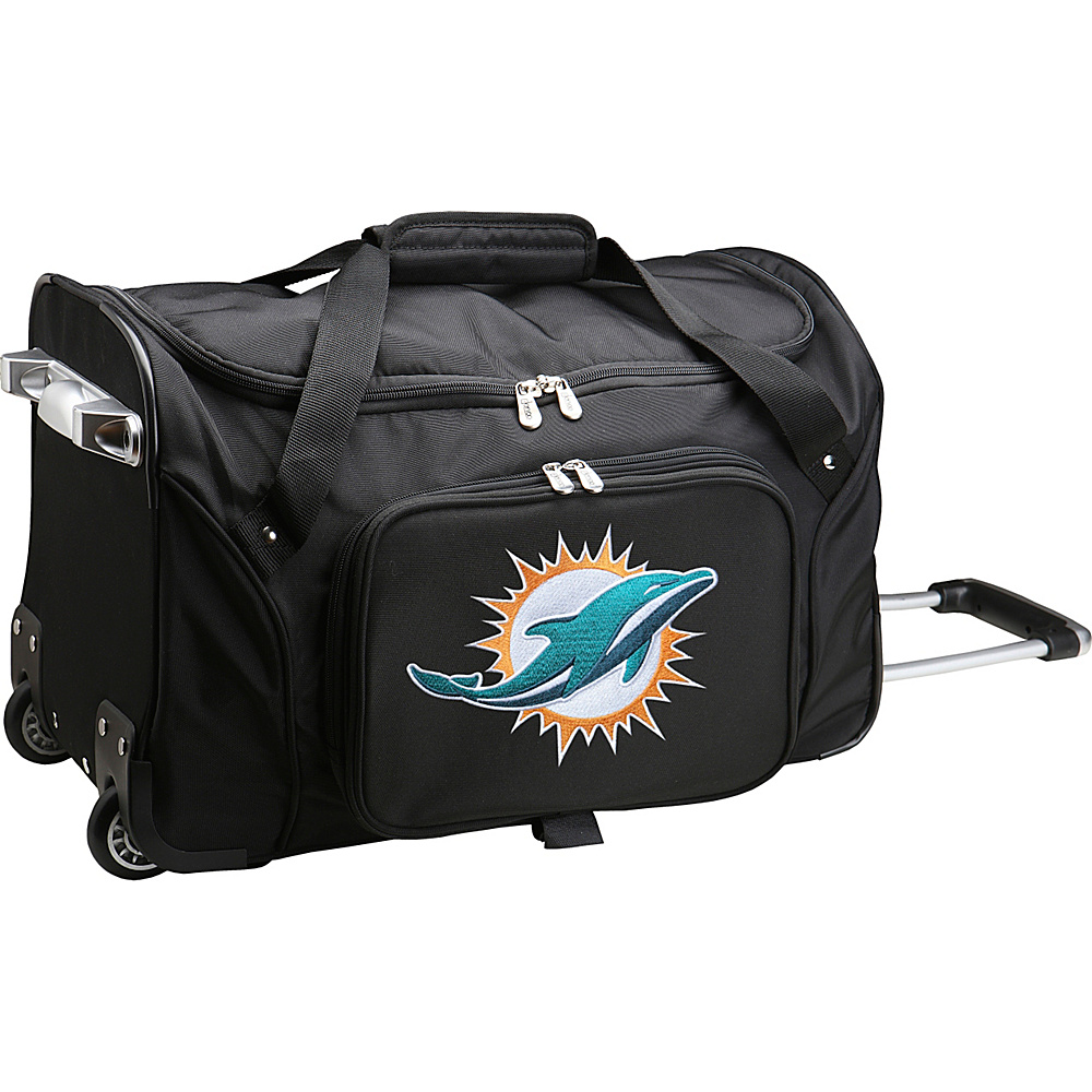 Denco Sports Luggage NFL 22  Rolling Duffel Miami Dolphins - Denco Sports Luggage Rolling Duffels - Luggage, Rolling Duffels