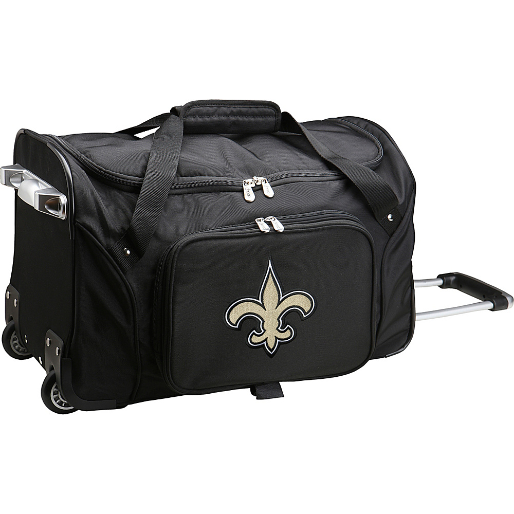 Denco Sports Luggage NFL 22  Rolling Duffel New Orleans Saints - Denco Sports Luggage Rolling Duffels - Luggage, Rolling Duffels