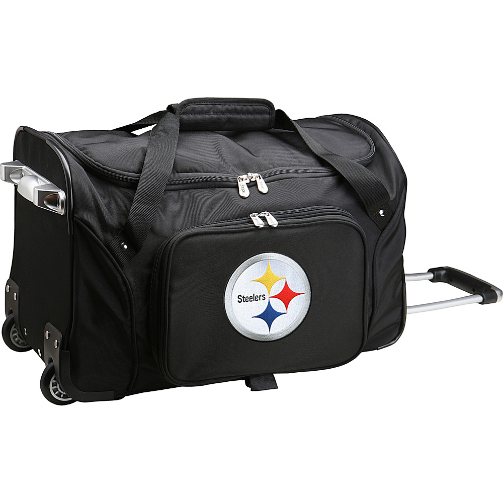 Denco Sports Luggage NFL 22  Rolling Duffel Pittsburgh Steelers - Denco Sports Luggage Rolling Duffels - Luggage, Rolling Duffels