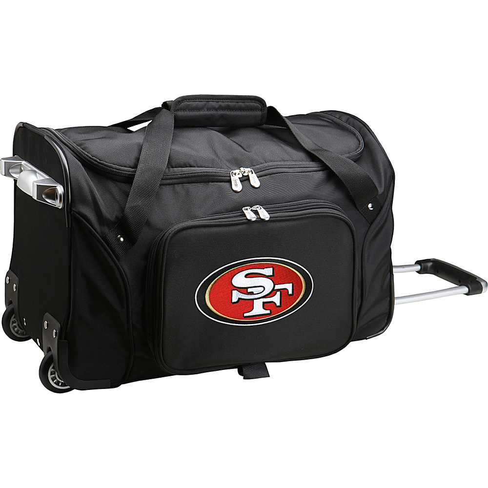 Denco Sports Luggage NFL 22  Rolling Duffel San Francisco 49ers - Denco Sports Luggage Rolling Duffels - Luggage, Rolling Duffels