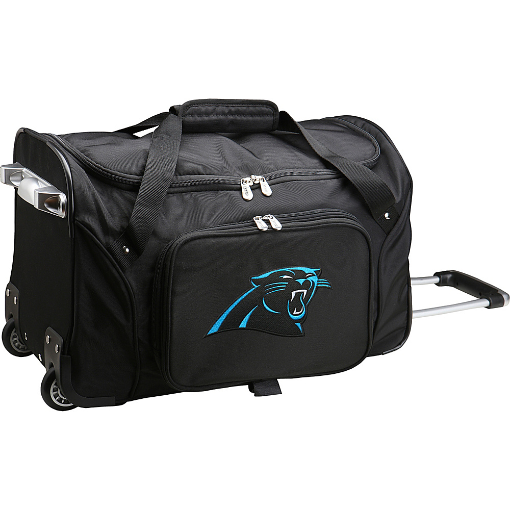 Denco Sports Luggage NFL 22  Rolling Duffel Carolina Panthers - Denco Sports Luggage Rolling Duffels - Luggage, Rolling Duffels
