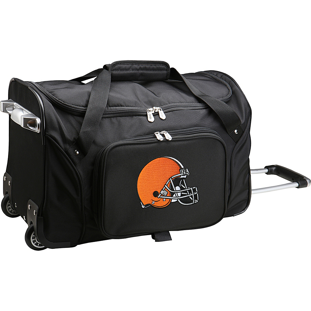 Denco Sports Luggage NFL 22  Rolling Duffel Cleveland Browns - Denco Sports Luggage Rolling Duffels - Luggage, Rolling Duffels