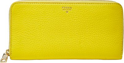 Fossil Sydney Zip Clutch Sunshine - Fossil Ladies Small Wallets