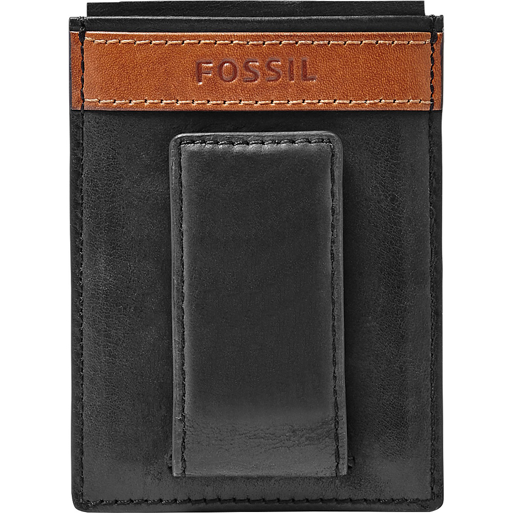 Fossil Quinn Magnetic Card Case Black - Fossil Mens Wallets - Work Bags & Briefcases, Men's Wallets