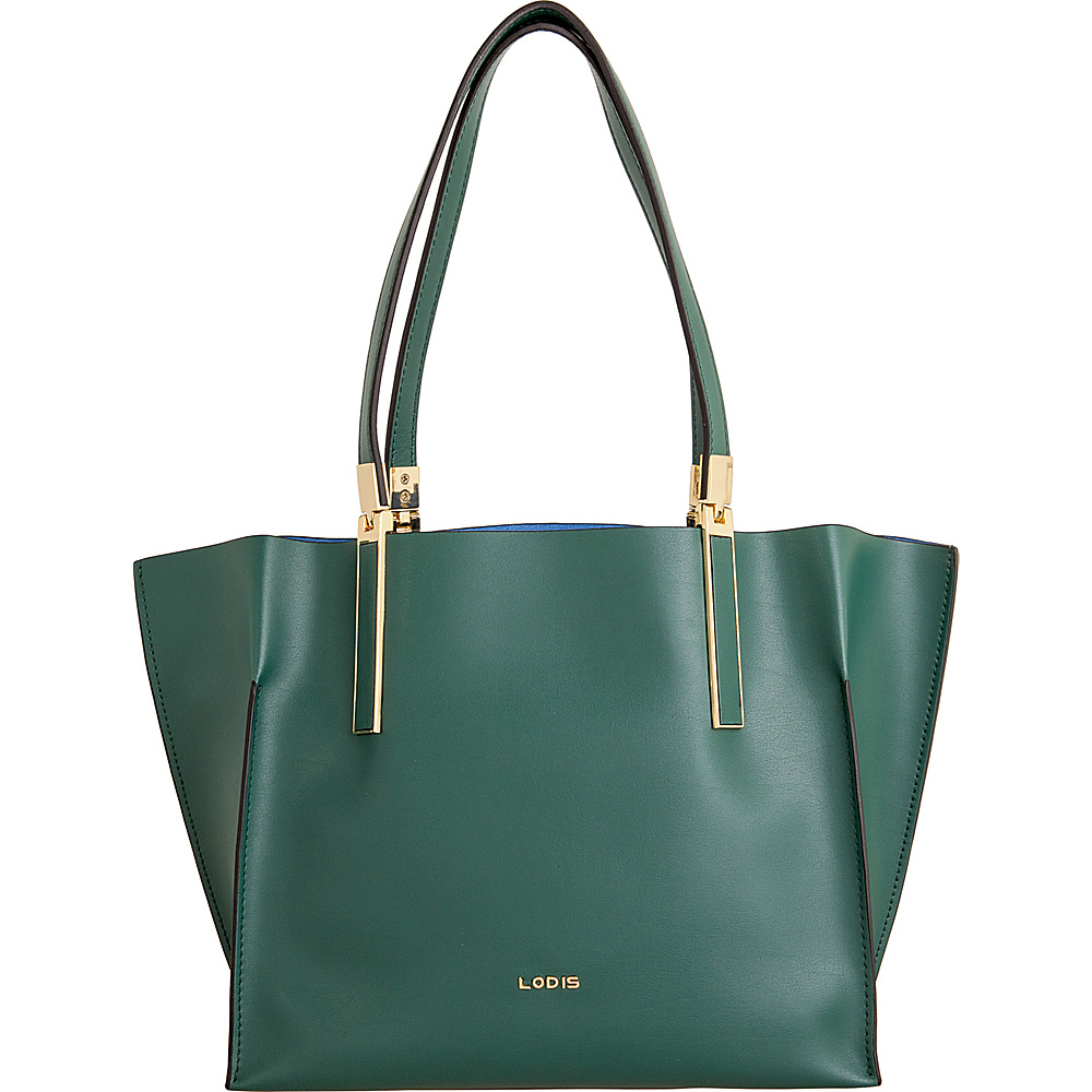 Lodis Blair Unlined Grace Multi Function Satchel Green/Cobalt - Lodis Leather Handbags - Handbags, Leather Handbags