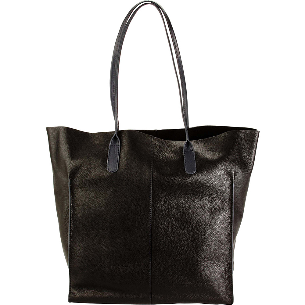 Hadaki Market Tote Black - Hadaki Leather Handbags - Handbags, Leather Handbags