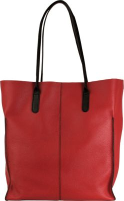 Hadaki Market Tote Deep Red - Hadaki Leather Handbags