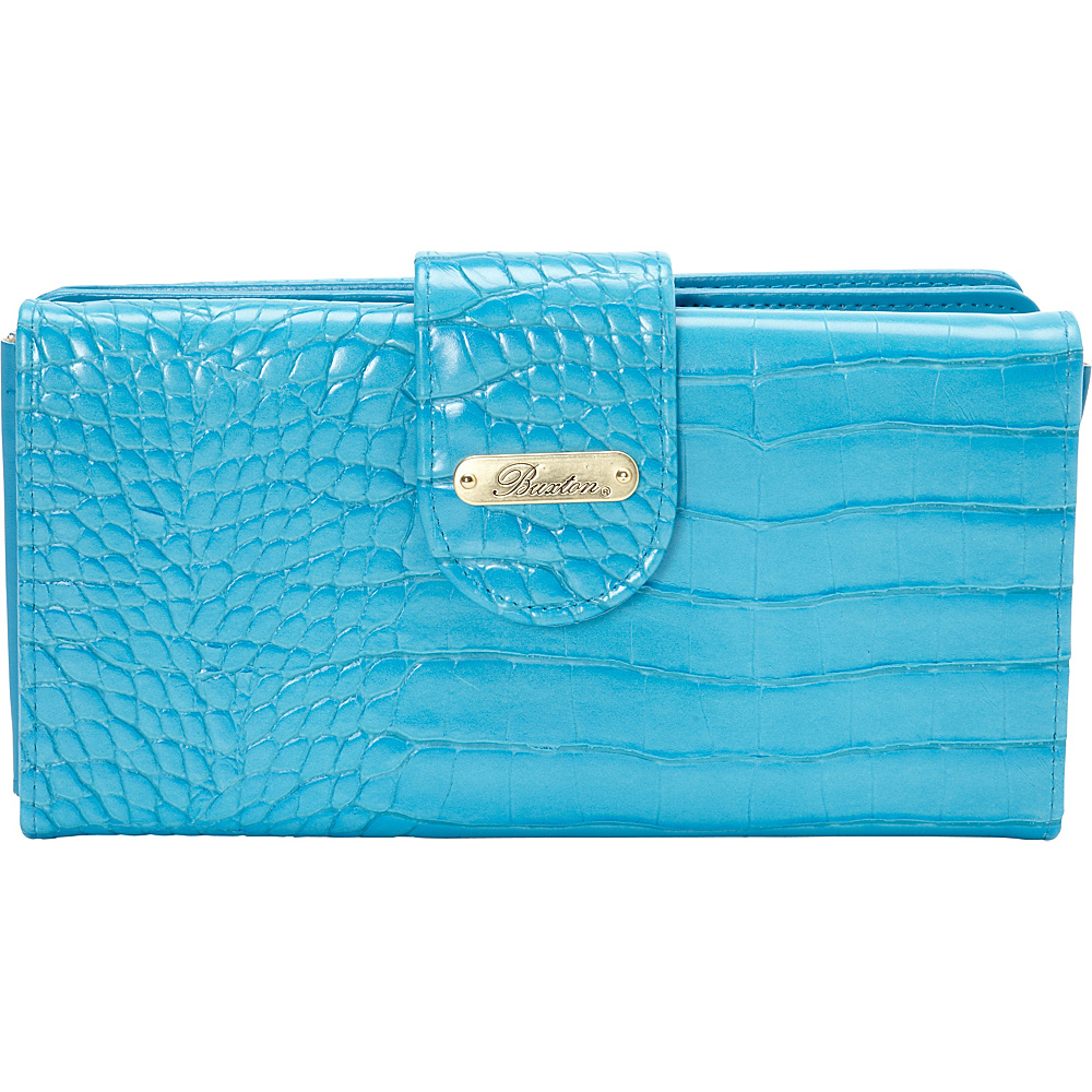 Buxton Nile Exotics Go To Superwallet Exclusive Olympian Blue Exclusive Color Buxton Women s Wallets