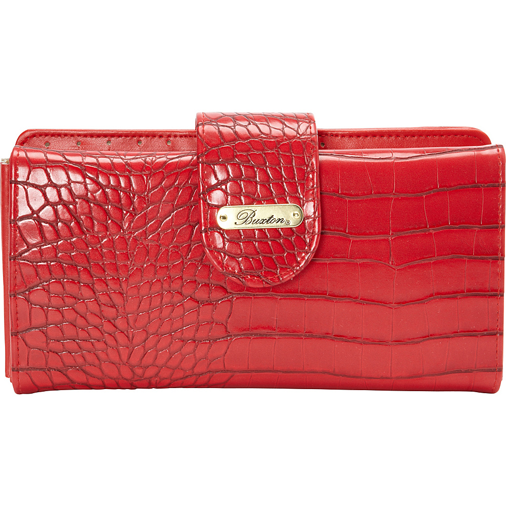 Buxton Nile Exotics Go To Superwallet - Exclusive Cherry Tomato - Exclusive Color - Buxton Womens Wallets - Women's SLG, Women's Wallets
