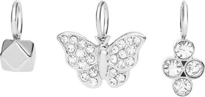 Fossil Butterfly Micro Charm Set Silver - Fossil Jewelry
