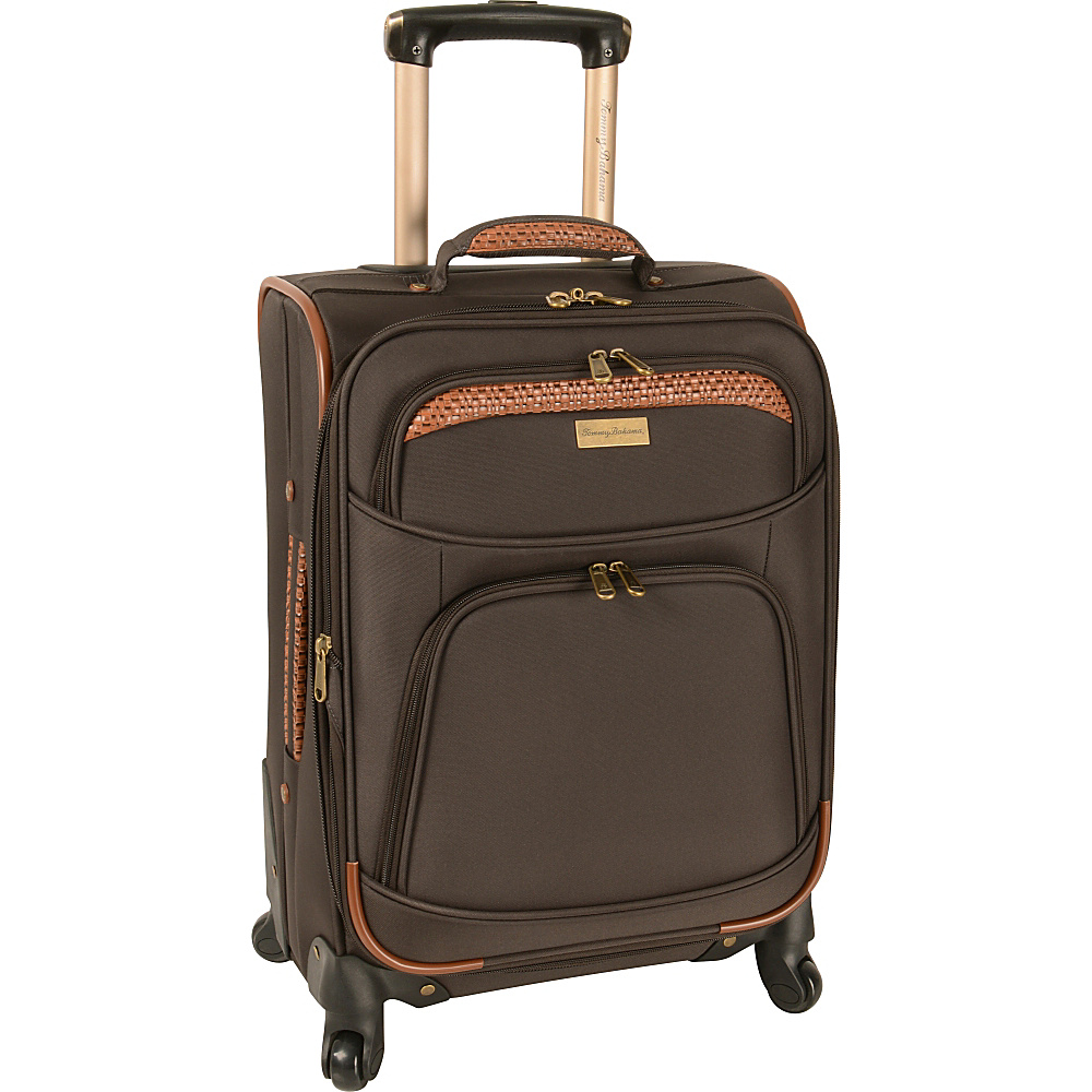 Tommy Bahama Santorini 20 Expandable Spinner Dark Brown Cognac Tommy Bahama Softside Carry On
