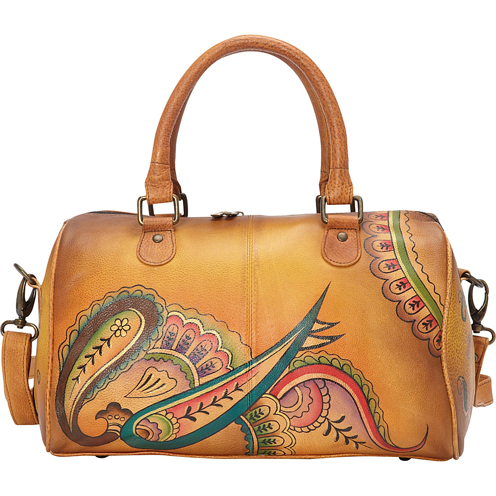 ANNA by Anuschka Large Zip Around Satchel Royal Paisley ANNA by Anuschka Leather Handbags
