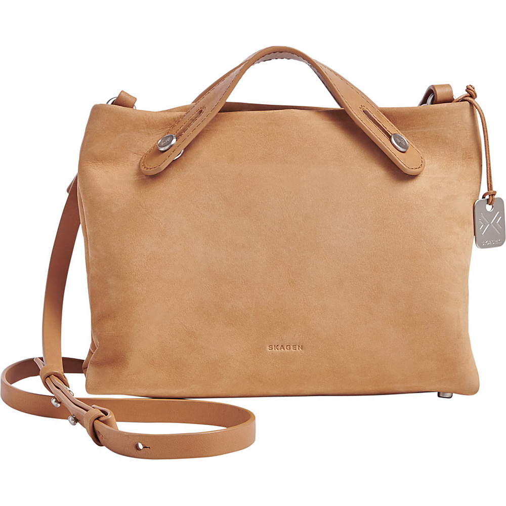 Skagen Mikkeline Leather Mini Satchel Light Tan Handbags