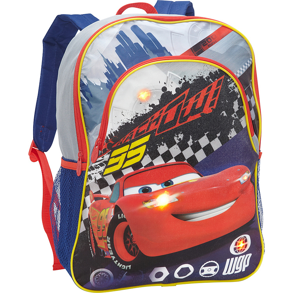 Disney Cars Backpack with Lights Grey - Disney School & Day Hiking Backpacks