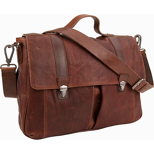 Andrew Marc Collection Bowery Satchel Cognac - Andrew Marc Collection Messenger Bags