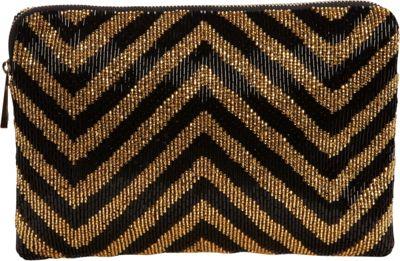 Inge Christopher Messina Clutch Black/Gold - Inge Christopher Evening Bags