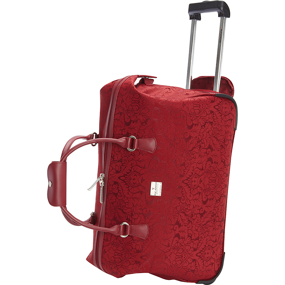 Ricardo Beverly Hills Imperial 20 2 Wheel City Bag Duffel Red Ricardo Beverly Hills Rolling Duffels