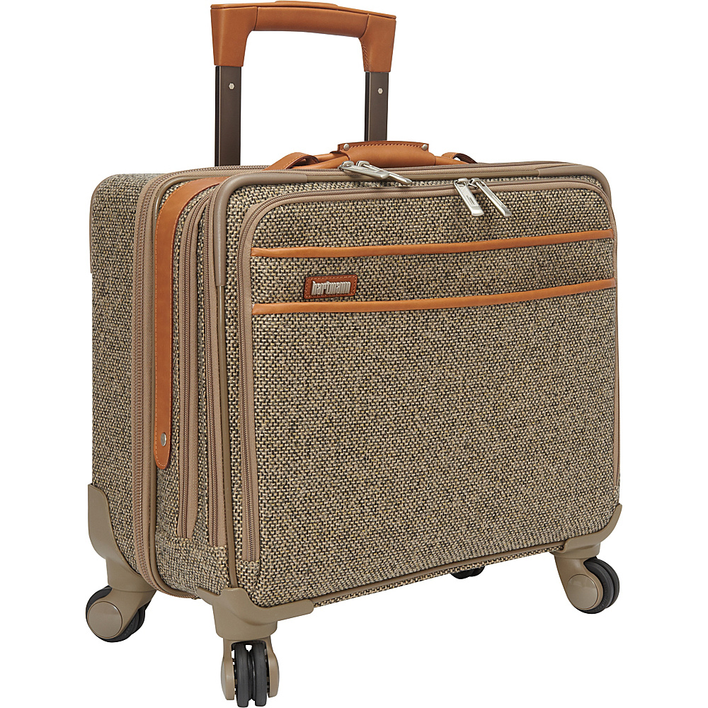 Hartmann Luggage Tweed Collection 18 Mobile Office Spinner Tweed Hartmann Luggage Wheeled Business Cases