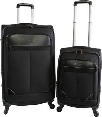 Perry Ellis Tribute 2Pc Spinner Luggage Set Black - Perry Ellis Luggage Sets
