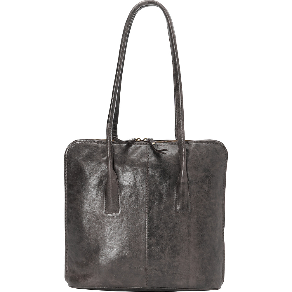 Latico Leathers Pascal Shoulder Bag Crunch Grey - Latico Leathers Leather Handbags - Handbags, Leather Handbags