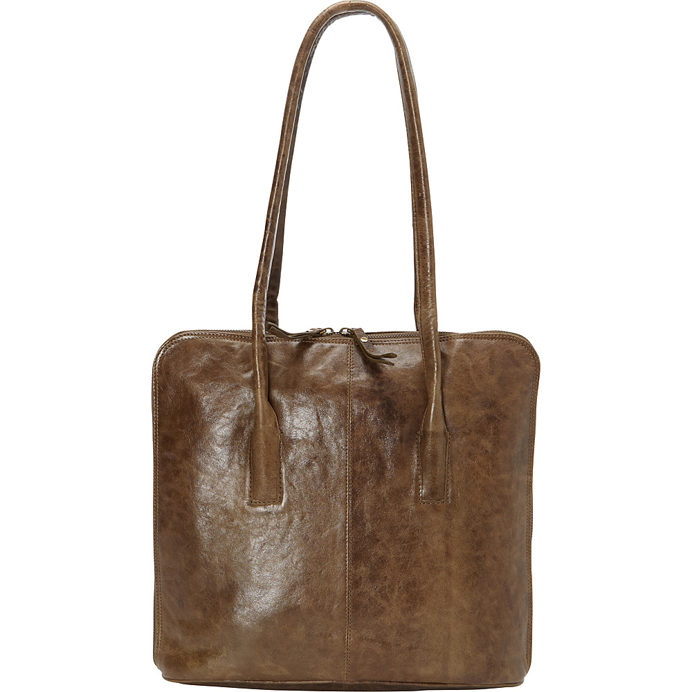 Latico Leathers Pascal Shoulder Bag Crunch Olive - Latico Leathers Leather Handbags - Handbags, Leather Handbags