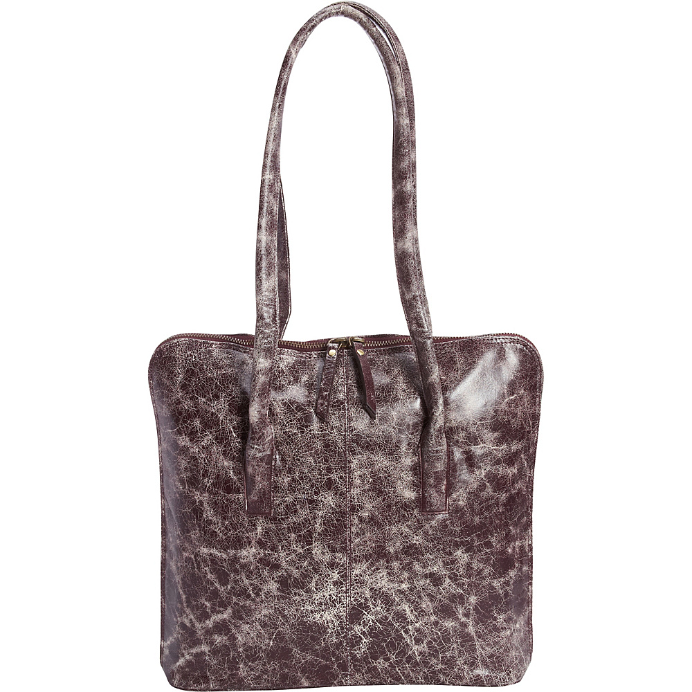 Latico Leathers Pascal Shoulder Bag Astro Purple - Latico Leathers Leather Handbags - Handbags, Leather Handbags