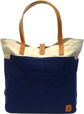 Maker & Co Maker & Co Bi-Color Canvas Tote Bag Navy - Maker & Co All-Purpose Totes