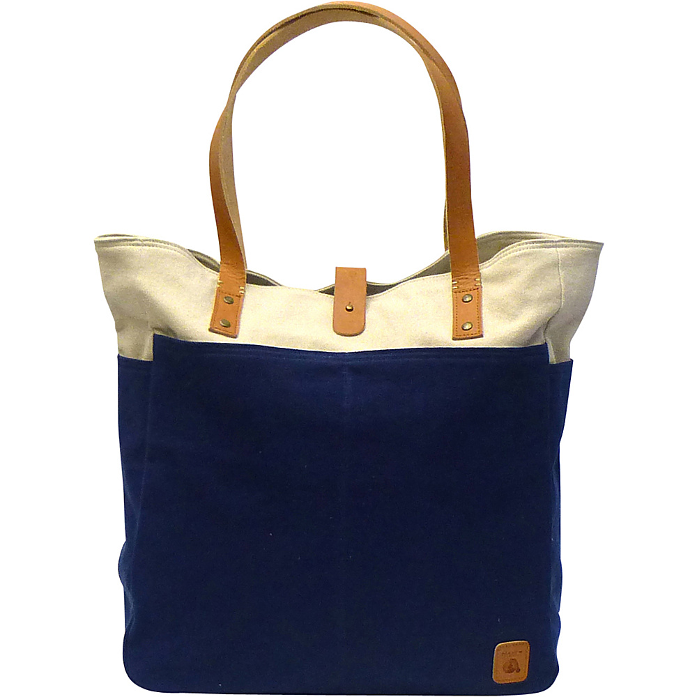 Maker & Co Bi-Color Canvas Tote Bag Navy - Maker & Co All-Purpose Totes