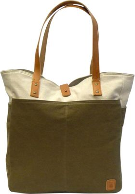 Maker & Co Bi-Color Canvas Tote Bag Tan - Maker & Co All-Purpose Totes