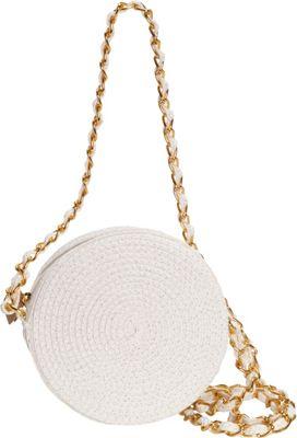 Sun 'N' Sand Saddle Cay Crossbody White/Gold - Sun 'N' Sand Fabric Handbags