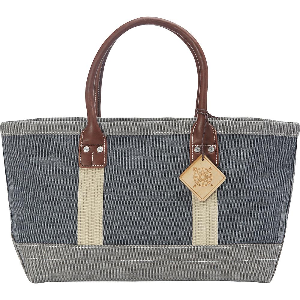Sun N Sand Montauk Hues Medium Tote Grey - Sun N Sand Fabric Handbags - Handbags, Fabric Handbags