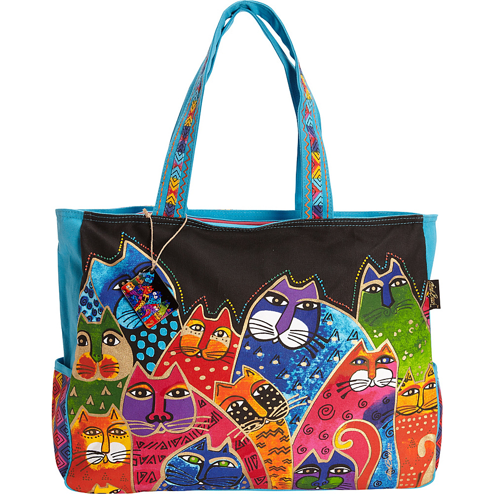 Laurel Burch Whiskered Family Oversized Tote Multi - Laurel Burch Fabric Handbags