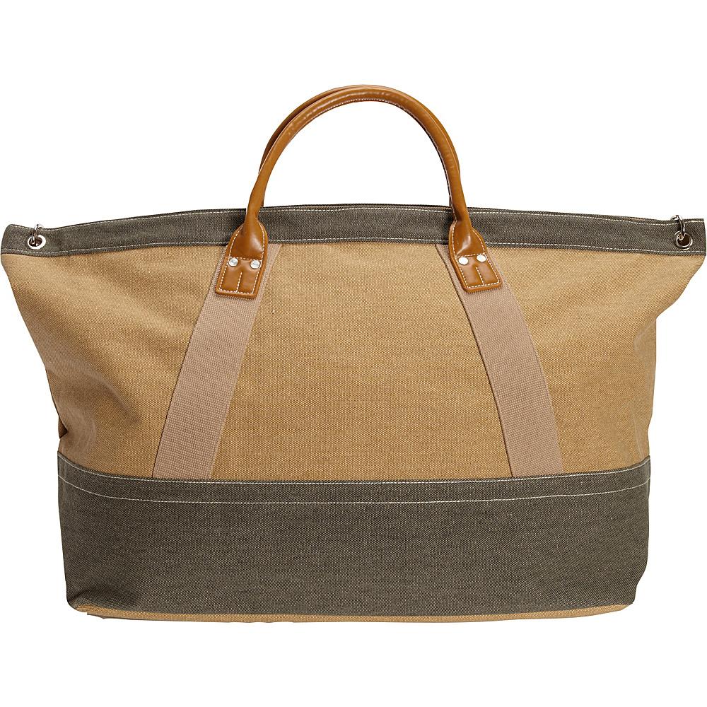 Sun N Sand Wainscott Oversized Tote Khaki - Sun N Sand Fabric Handbags - Handbags, Fabric Handbags