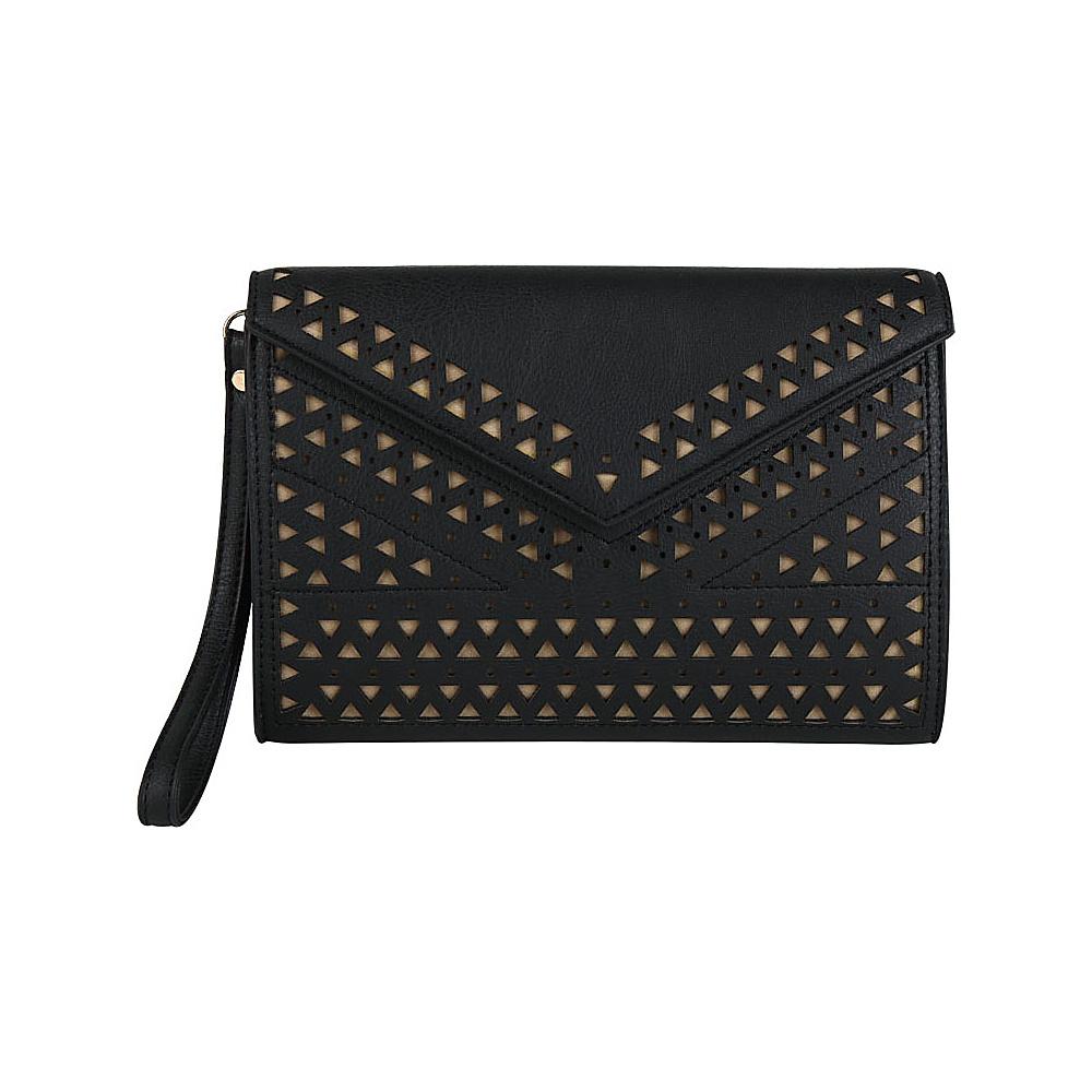 Melie Bianco Quincy Clutch Black - Melie Bianco Manmade Handbags