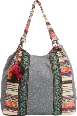 Scully Paneled Front Shoulder Bag Blue - Scully Fabric Handbags