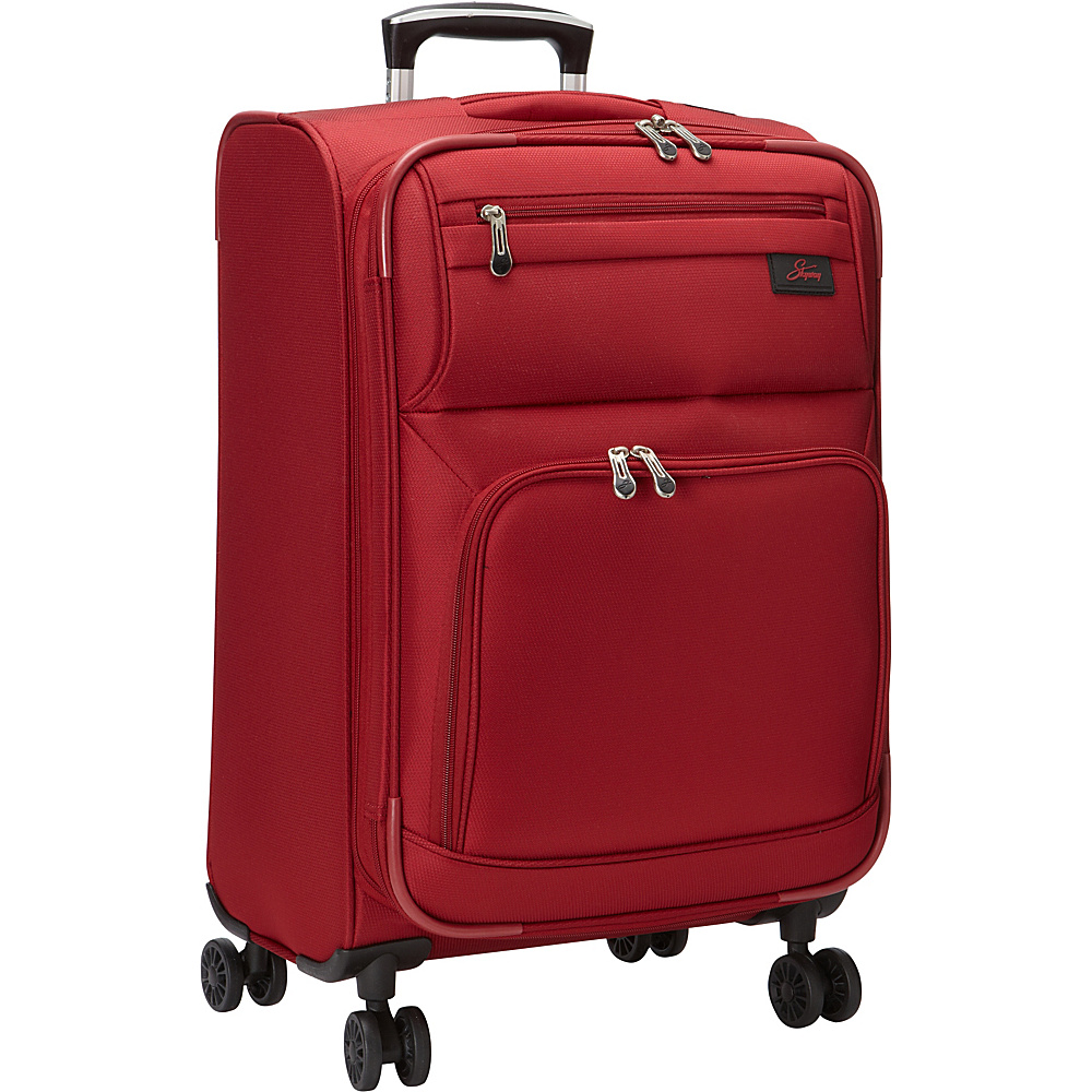 Skyway Sigma 5.0 21 4 Wheel Expandable Carry On Merlot Red Skyway Softside Carry On