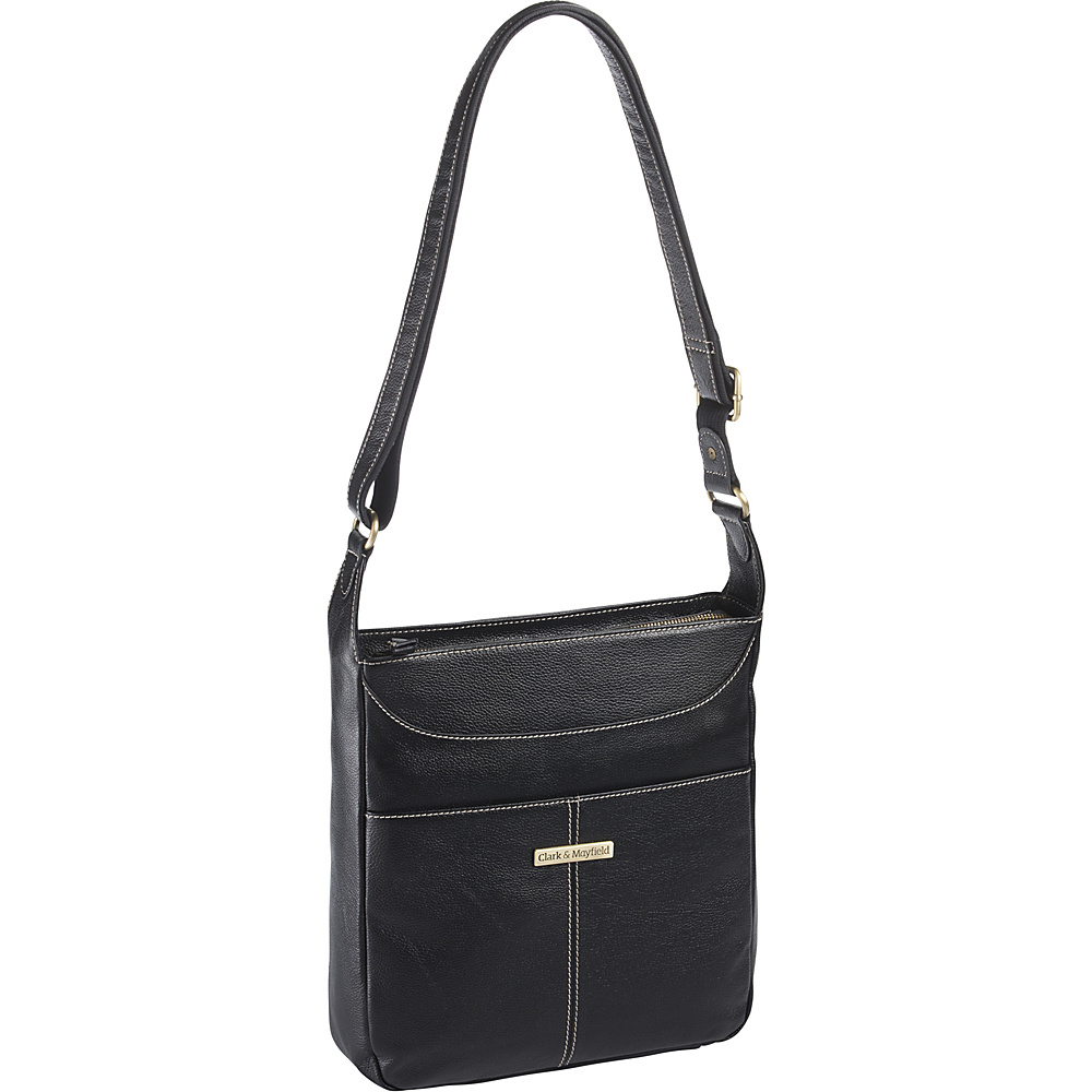 Clark Mayfield Morrison Leather Tablet Crossbody Black Clark Mayfield Leather Handbags