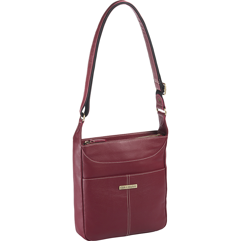 Clark Mayfield Morrison Leather Tablet Crossbody Red Clark Mayfield Leather Handbags