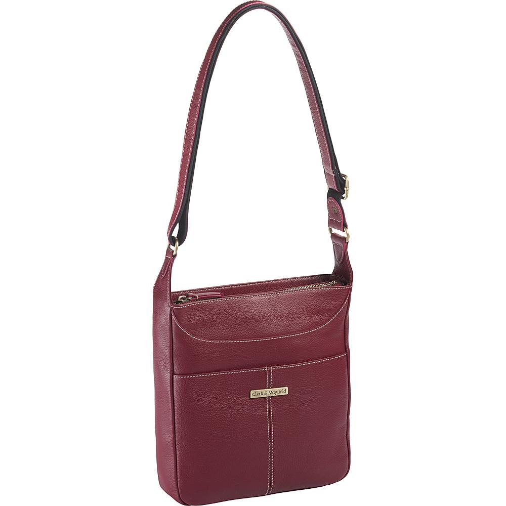 Clark Mayfield Morrison Leather Tablet Crossbody Red Clark Mayfield Leather Handbags