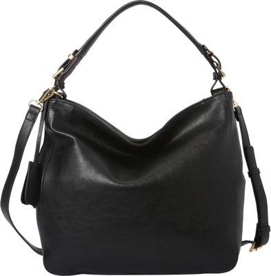 La Diva RFID Convertible Hobo - Exclusive Black - La Diva Manmade Handbags